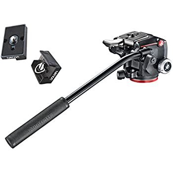 Manfrotto XPRO Fluid Head with Fluidity Selector Plus Two Bonus Replacement Quick Release Plates for the RC2 Rapid Connect Adapter