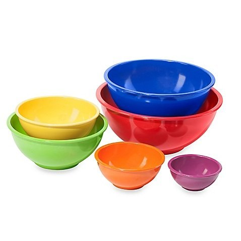 Melamine 6-Piece Multi-Purpose Mixing Bowl Set comes in Dishwasher safe (top rack only) - Sox Melamine Bowl