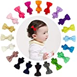 """Ruyaa Tiny 2"""" Hair Bows Fully Lined Hair Clips for Baby Fine Hair Infants Toddlers"""