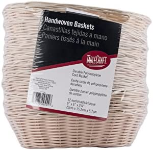 TableCraft Products C1174W Basket Oval Natural 9 x 6 x 2.25 (Pack of 12)