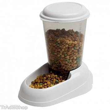 tradeshoptraesio® - Dispensador de pienso para perros y gatos 3 L: Amazon.es: Productos para mascotas
