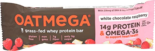Oatmega, Bar White Chocolate Raspberry, 1.8 Ounce