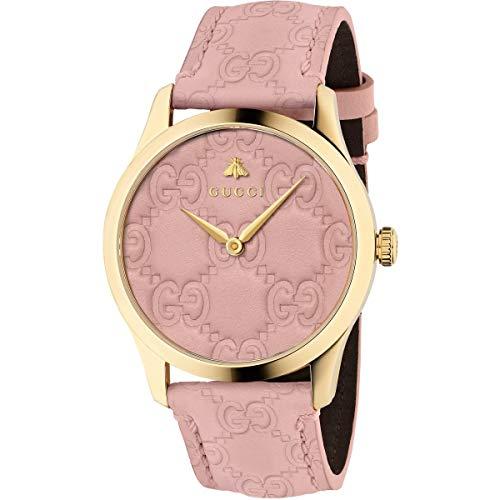 Gucci Women's G-Timeless - YA1264104 Pink/Gold One ()