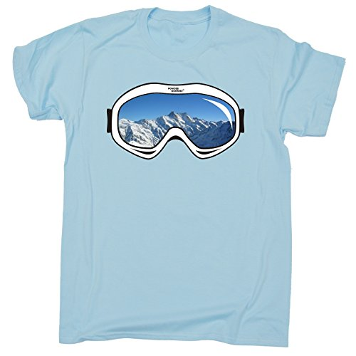 123t Kids Boy's Girl's SKI GOGGLES DESIGN (M-Age-7-8 - LIGHT BLUE) T - Uk Goggles Ski
