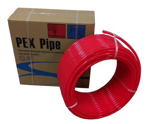 1/2 inch x 1000ft Pex Tubing Oxygen O2 Barrier EVOH, Pex-B Red 1,000 ft for Radiant Floor Heat (From (Pex Radiant Heat)