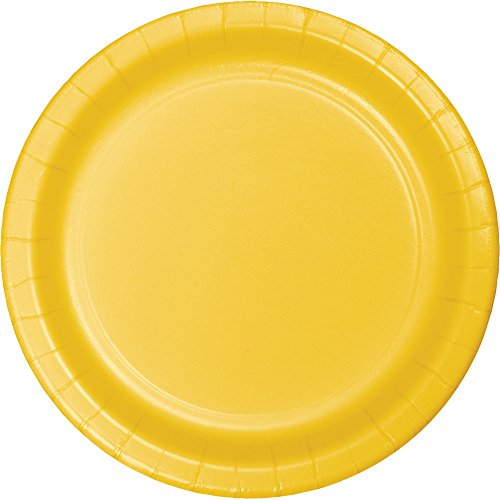 (Creative Converting 553269 Touch of Color 96 Count Dinner/Large Paper Plates, School Bus Yellow)