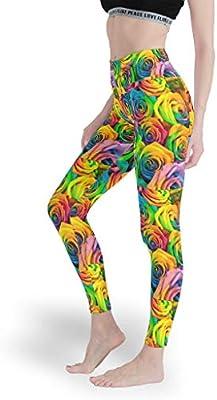 Leggings estampados para mujer, control abdominal, pantalones de yoga, pantalones de algodón para pilates, gimnasio, color blanco, tamaño extra-small: Amazon.es: Deportes y aire libre