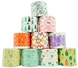"""Decorative Duct Tape - Assorted Printed Designs - 10 Rolls - for Duct Tape Crafts Projects – Single Roll 5.46 Yards x 1.88"""" - Total Rolls 54.6 Yards x 1.88"""" (50m x 48mm) (Set 10)"""
