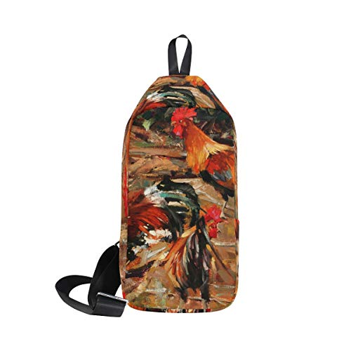 Bag Rooster Bags Bennigiry Cock Backpack Shoulder Sling Crossbody Chest Women For One amp; Men wq8Fp