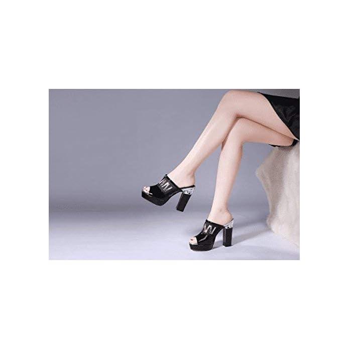 Yingsssq Infradito Da Donna Estiva Spessore Con Tacco Alto Impermeabile Indumento Esterno colore Nero Dimensione 6 Us 36 Eu 3 5 Uk