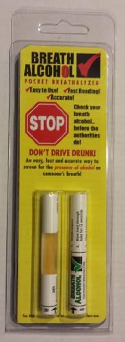 Breath Alcohol  08  Pocket Breathalyzer Case Of 36 Packs  Two Tests Per Pack