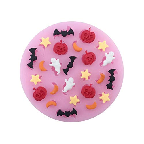 DIY Halloween Cookie Ghost Moon Shape Chocolate Silicone Fondant Mold Candy Cookie Cupcake Molds Cake Decorating Tools