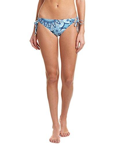 Hipster Print Tie (Helen Jon Women's Jamie Print Loop Tie Side Hipster Bikini Bottom Jamie M)