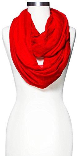 Merona Crinkle Infinity Scarf (Red) (Merona Scarf)