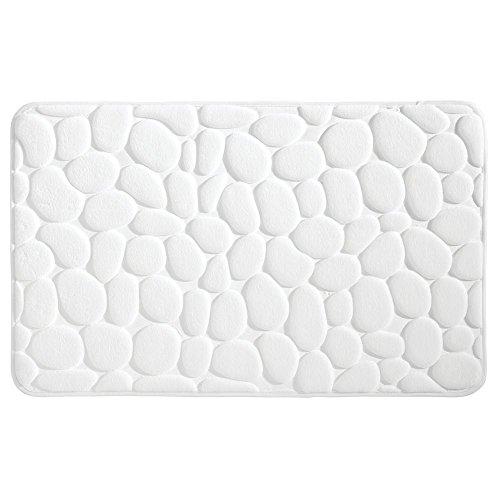 "InterDesign Bathroom 34"" x 21"" Memory Foam Pebble Mat - White, from InterDesign"