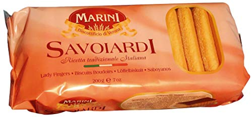 Amazon.com : Marini Savoiardi Italian Ladyfingers Cookies 200 Grams - Biscottificio di Verona Italiani - Product of Italy... : Grocery & Gourmet Food