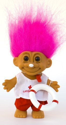 My Lucky LIFEGUARD Troll Doll (Pink Hair) ()
