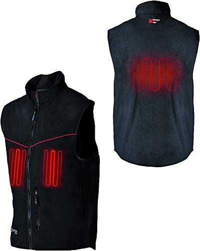 (Venture HYB1616 XS 12V Hybrid Soft Shell Heated Vest (Black, X-Small))