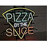 New Star Neon Sign Factory 17X14 Inches Real Glass Neon Sign Light for Beer Bar Pub Garage Room Pizza by The Slice.