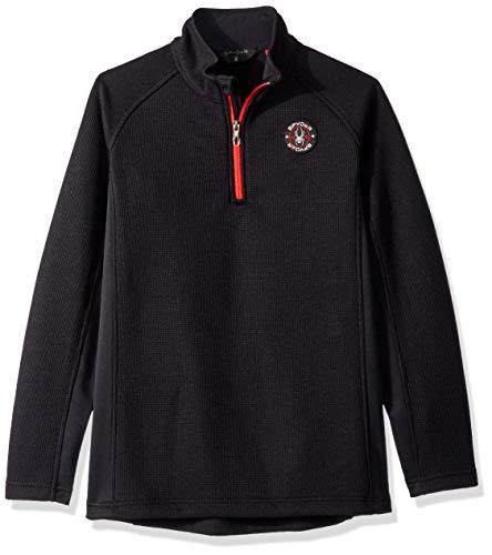 Spyder Boys' Bandit Half Zip Stryke Jacket, Black/Black/Red, Large ()