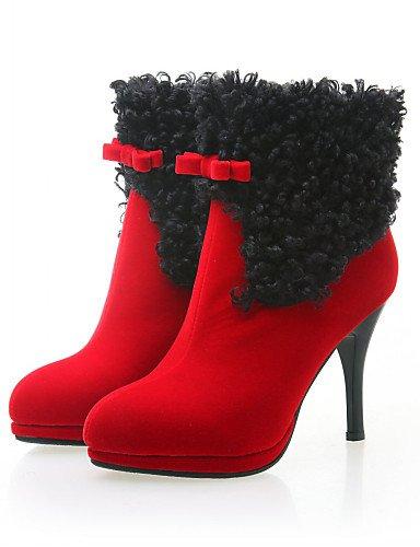 eu39 Botas Puntiagudos de uk4 red eu37 cn39 red Stiletto us8 5 Tacón XZZ 5 red Rojo us8 Casual us6 Sintético Negro cn37 Plataforma uk6 7 uk6 mujer Zapatos cn39 eu39 5 YqwB506