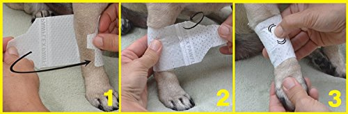 Image of Pawflex Bandages Basic Bandages for Pets (2 Standard, 2 Wide) Small