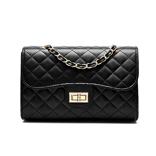 The Chain Yxiaol Ladies Goldchainblacklarge Fashion Rhombus Fragrance Nero Small goldchainblacklarge Bag S1qHaHwx