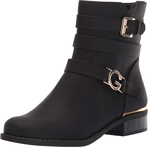 G By Guess Womens Harlin Closed Toe Ankle Fashion Boots, Black, Size 8.5