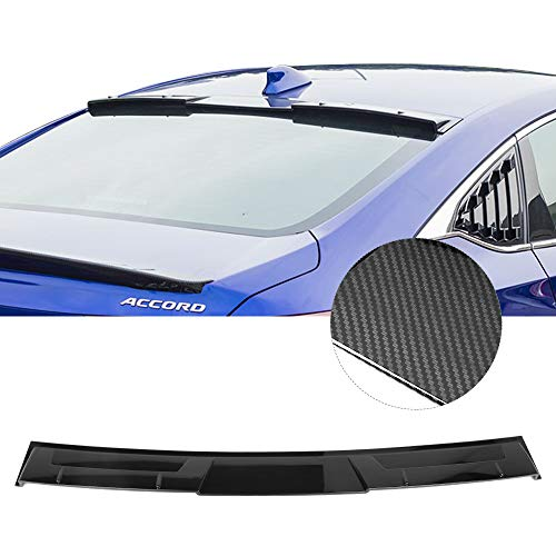 Fits 18-19 Honda Accord Ikon Style Roof Spoiler Carbon Fiber Look ABS By IKON MOTORSPORTS