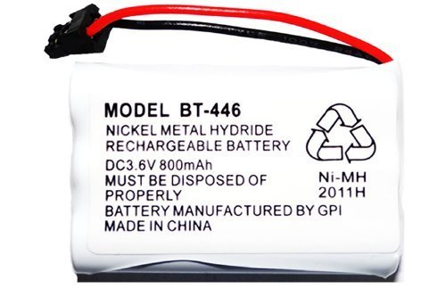 Rechargeable Replacement Bt-446 Battery for Uniden Cordless Phone DC 3.6V 800 mAh - 8 800 Mah Battery Pack