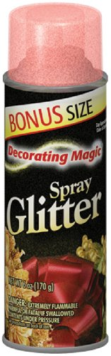 Chase Research Decorating Magic Spray Glitter, 6-Ounce, Red