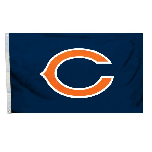 NFL Chicago Bears Logo Only 3-by-5 Feet Flag with - Perimeter Mall Shops