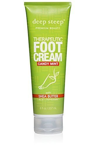 Deep Steep, Therapeutic Foot Cream, Candy Mint, 8 (Deep Steep Candy)