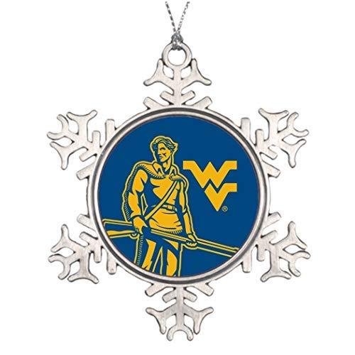 EvelynDavid Snowflake Ornament Ideas Decorating Christmas Trees WVU Mountaineer Xmas Decor