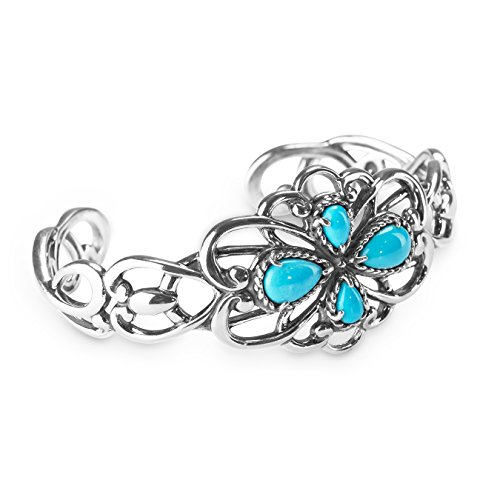 Carolyn Pollack Sterling Silver Sleeping Beauty Turquoise Cuff Bracelet, Small