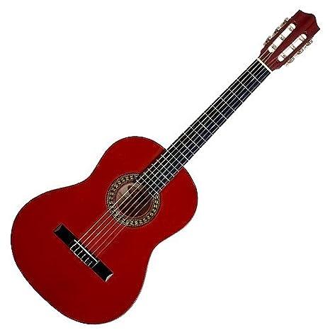 Stagg C542 TR - Guitarra clásica, color rojo: Amazon.es: Instrumentos musicales