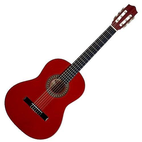 UPC 882030138287, Stagg C542 4/4-Size Nylon String Classical Guitar - Dark Red