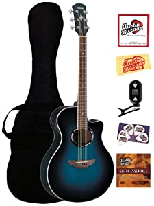 yamaha apx500iii thinline cutaway acoustic electric guitar bundle with gig bag. Black Bedroom Furniture Sets. Home Design Ideas