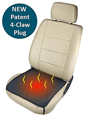 ObboMed SH 4050F 12V 24W Portable Heated Car Seat Pad Cover With 4 Claw