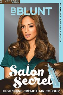 BBLUNT Salon Secret High Shine Creme Hair Colour Honey Light Golden Brown 5.32