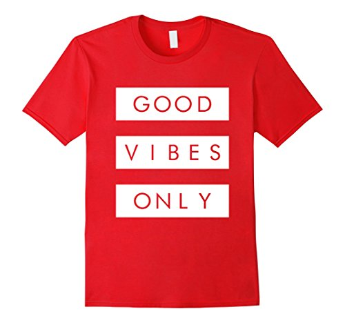 Graphic Tee Classic Jordan Mens (Mens Good Vibes Only T-Shirt Sneaker Heads Basketball Shoes Medium Red)