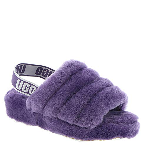 UGG Women's Fluff Yeah Slide Wedge Sandal, Violet Bloom, 9 M US (Purple Woman Ugg Boots)