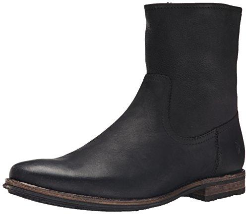 UPC 888542814756, FRYE Men's Oscar Inside Zip Boot, Black Textured Full Grain, 9 M US