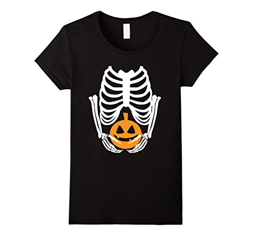 Womens Spooky Funny Halloween Gift Tees | Pregnant Ghost Medium -