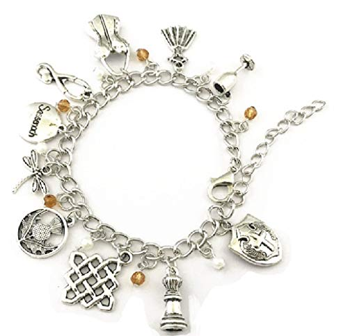 Ivy & Clover Movie Entertainment TV Jewelry Collection (Sassenach Jaime Fraser Claire Outlander Inspired Dragonfly Charm Bracelet)