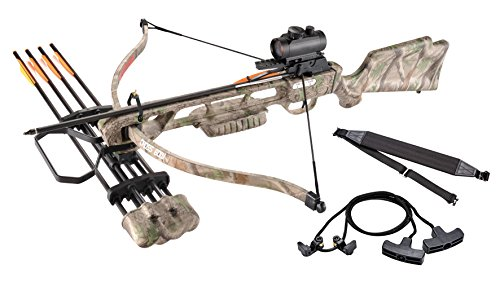 Leader-Accessories-Crossbow-Package-160lbs-210fps-Archery-Equipment-Hunting-Bow-with-Quiver-and-4pcs-of-Aluminum-Arrow