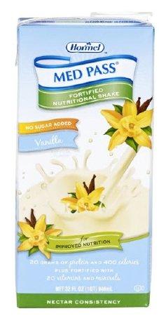 Hormel Health Labs Med Pass Supplement -Vanilla 32 oz Case: 12
