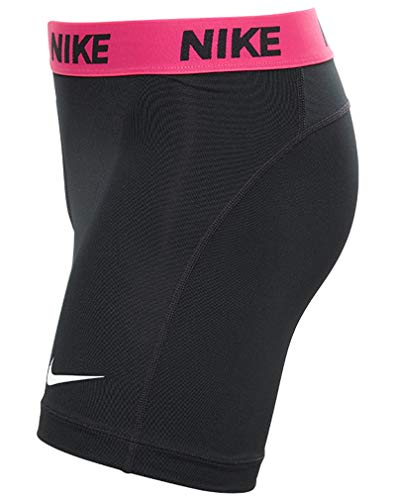 Nike Women's Victory Base Layer 5'' Training Shorts (Black/Vivid Pink/White, X-Small) by Nike (Image #3)