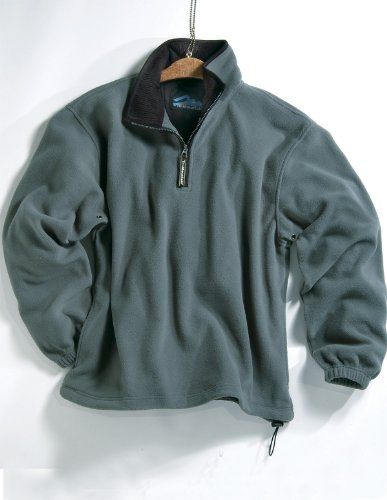 Tri-mountain Micro fleece 1/4 zip pullover. 7100TM - SAGE / BLACK_L