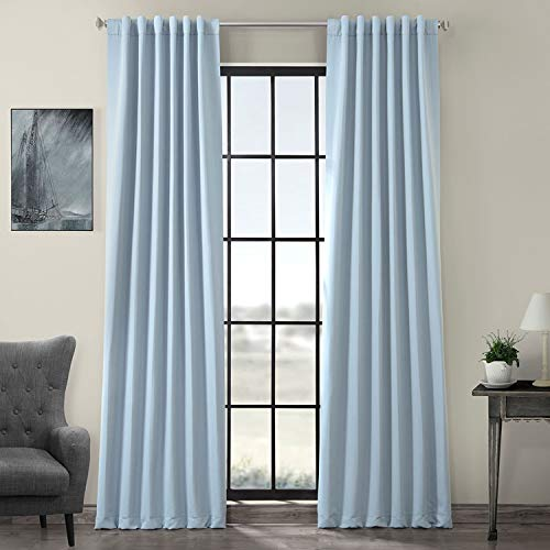 HPD HALF PRICE DRAPES BOCH-134308-96 Blackout Room Darkening Curtain, 50 x 96, Frosted Blue
